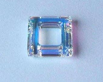 1 SWAROVSKI 4439 Cosmic Square Bead 20mm CRYSTAL AB
