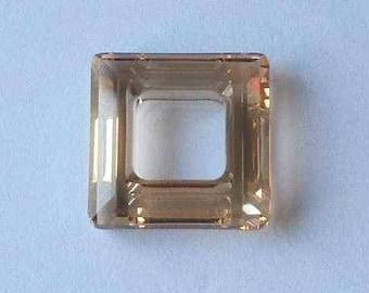 1 SWAROVSKI 4439 Cosmic Square Bead 20mm GOLDEN SHADOW