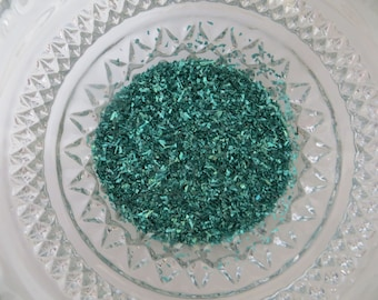 German Glass Glitter, 70 Grit, 1 Ounce, CHOICE of Rasberry or Green