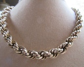 Older Vintage Twisted Rope Chain in Gold Fill - Locket Chain - Collar Chain - Estate Jewelry