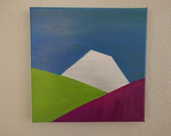 Rainier Spring - 8x8 Original Acrylic Painting on Canvas