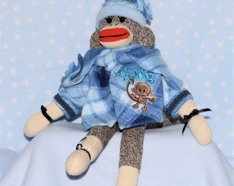Sock monkey,  Rockford red heel sock monkey, Monkey,  Monkey doll