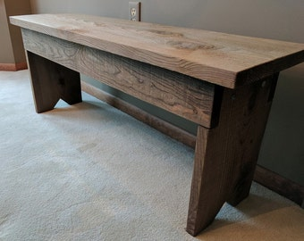 Rustic Wood Bench for entryway, mudroom, bedroom