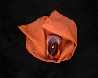 "Rusty Brown Tarot Cloth - Altar Cloth - Hand Dyed 20""x20""...100% Silk"