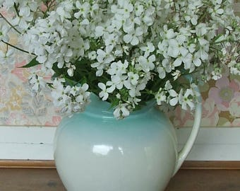 Lovely Vintage Blue and White Jug or Vase
