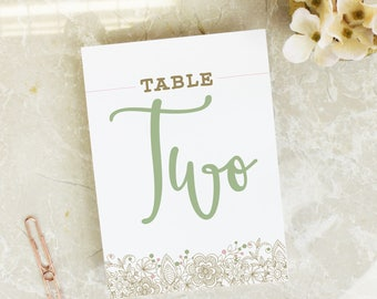 Wedding Table Names - 'Grace' Table Names - Wedding Signs - Table Names - Wedding Table Number - Wedding Decor