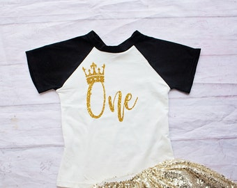 Girl First Birthday Shirt-Cake Smash Outfit- Gold Birthday Shirt-1st Birthday Bodysuit