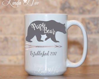 Papa Bear Mug, Papa Bear Gift, Gift for Dad, Dad Mug, Papa's Kitchen, Fathers Day Gift, Daddy Mug, Papa Gifts, New Dad Gift, Bear Mug MPH271