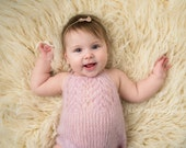 Newborn girl lace knit mohair romper-kid silk mohair romper for girls in newborn-photography props-knit lace rom