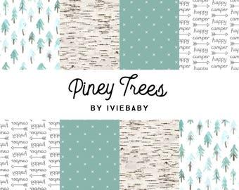 Piney Trees Bedding. Baby Bedding. Woodland Baby Bedding. Trees Baby Bedding. Crib Sheet. Crib Skirt. Woodland Nursery.
