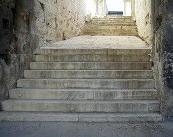 Original Photograph (Matted): Arena Steps - Nimes, France