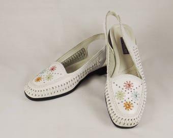 SANDLER of Boston Slingback Shoes US Size 7M