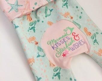 Mermaid Maxaloones / Grow With Me Pants / Toddler Leggings / Baby Leggings / Cloth Diapering Pants / Mermaid Baby Shower Gift / Mermaid Gift