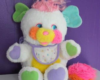 Vintage Popples Baby Bibsy Doll Plush 1986 by Mattel Rattle Tail 80s Kawaii