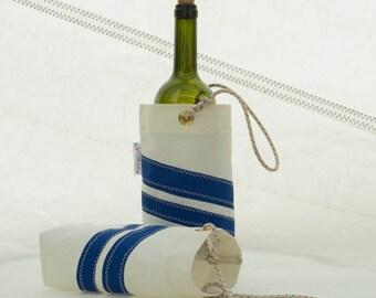 Wine Bottle Tote, Sail Cloth Bag, Wine Bag, Sail cloth tote bag