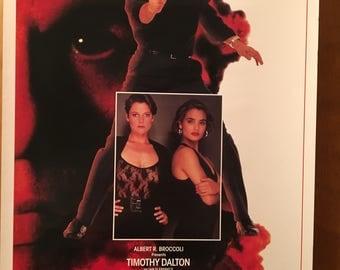 Mini Movie Poster, License to Kill with Timothy Dalton.