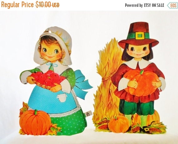 On sale vintage die cut thanksgiving by debscountryvintage