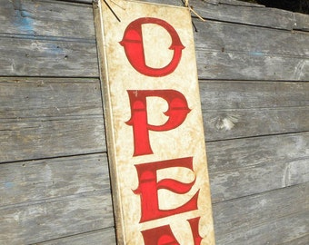 Open  Sign, , original, hand painted  SB -O3