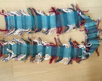 Handwoven Wool Fringe Scarf