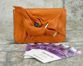 Business Card Case Holder Dragon Orange Leather One Of A Kind Business Gift