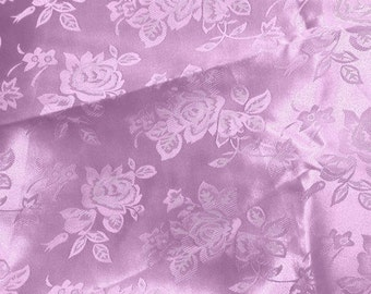 Brocade Jacquard Satin Lilac 60 Inch Fabric by the Yard - 1 yard