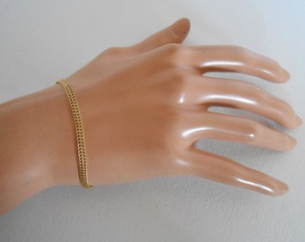 14K Double Linked Chain Woman Bracelet