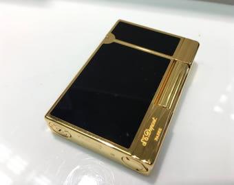 ST Dupont Ligne 2 Gold Finish Natural Lacquer Lighter