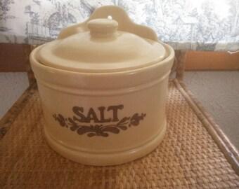 Vintage Pfaltzgraff Salt Box - Pfaltzgraff Salt Container - Pfaltzgraff Village  Pattern
