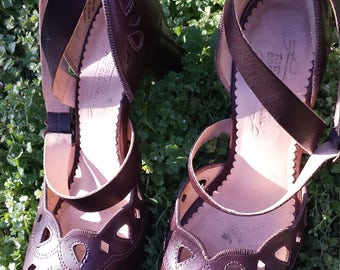 1940 style Pin-Up Girl Shoes, WWII, Theater, Burlesque, Period Dressing Size 6 Medium Timberland Boot Company!