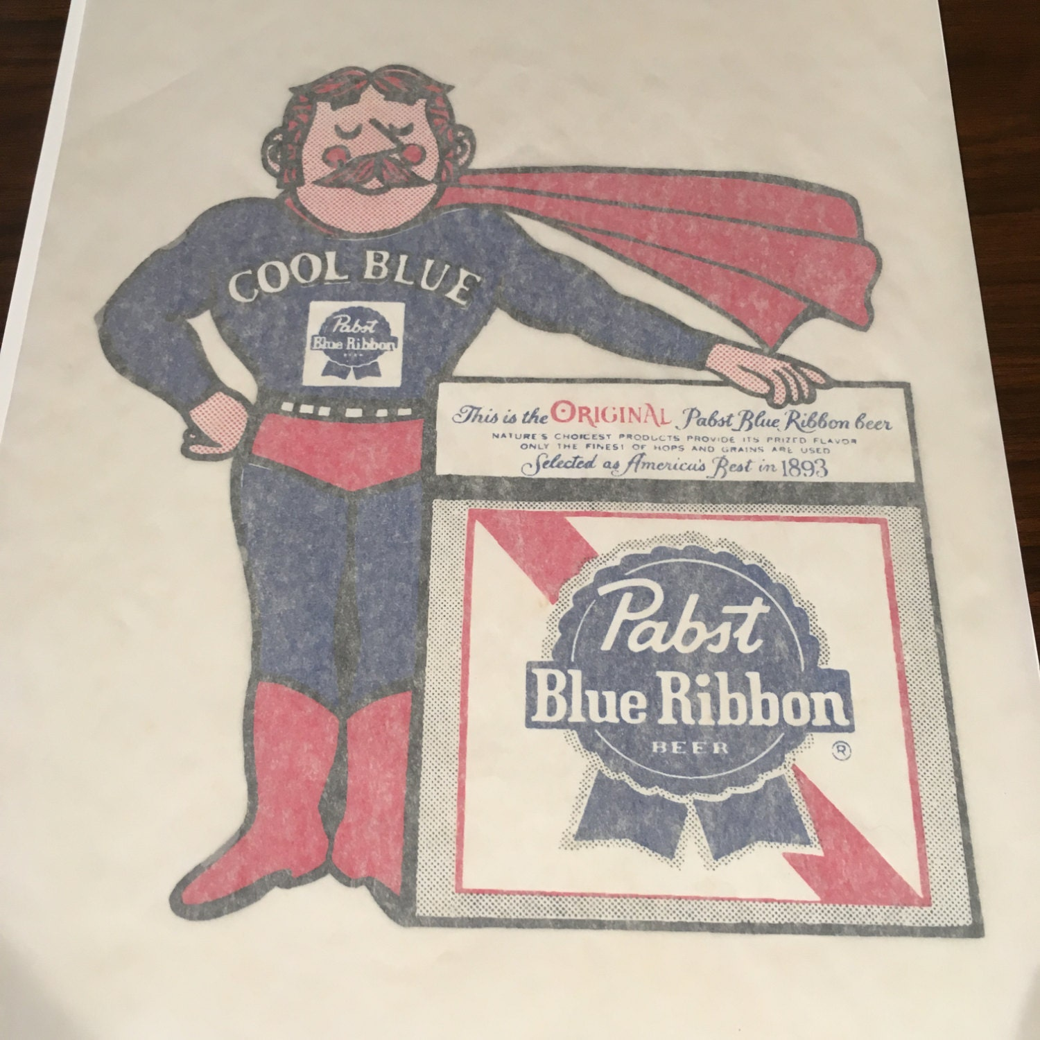 Pbr Stock Quote Vintage Pabst Blue Ribbon Beer Cool Blue Pbr Ironon Transfer For