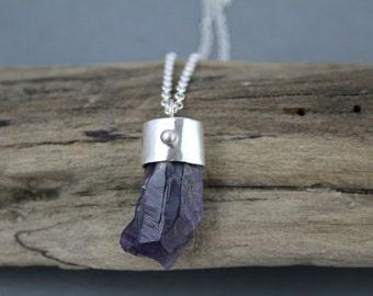 Amethyst Crystal Necklace, Purple Crystal Jewelry, Amethyst Pendant, February Birthstone, Birthstone Jewelry, Sterling Silver