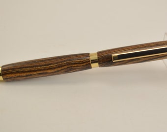 Free US Shipping!! Hand Turned from Exotic Bocote Wood, Executive Pen, Wood Ink Pen, Custom Wood Pen, Heirloom Pen