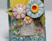 FLOWER BOQUET, mosaic wall art, gift, mosaic, mosaic art