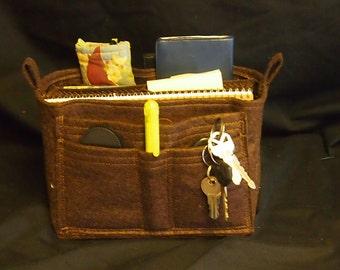 Felt  Purse insert \ Handbag organizer \ Purse organizer \ Felt handbag insert \ Organizer \ Purse Insert \ 8L 6H 3D LV \ Designer insert