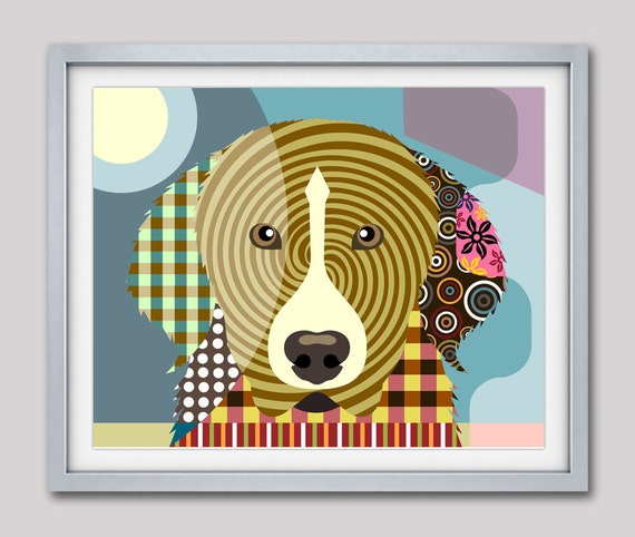Great Pyrenees Art Print, PYR, GP, PMD, Great Pyrenees Gift, Great Pyrenees Dog Pet Portrait, Animal Art, Dog Painting, Dog Wall Art