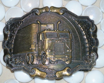 Raintree of California Big Truck buckle 3 12 by  2 1/2 inches