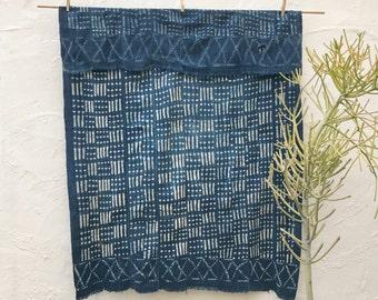 Vintage African Indigo Textile, Indigo Throw African Indigo Fabric Indigo Cloth Indigo Shawl Hand dyed indigo fabric Indigo Blanket #56