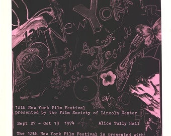 Jean Tinguely-12th New York Film Festival-1974 Serigraph