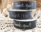 Black Thank You Washi Tape - HH1776