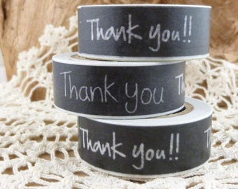 Black Thank You Washi Tape - HH1776
