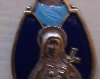 Beautiful Vintage St Thérèse of Lisieux (the Little Flower) Medal - circa 1960s