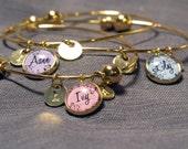 3 best friend bracelets, 3  best friend gift, friendship bangle