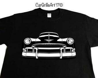 Car Grille Art Tee shirt, T-Shirt, 1950 Chevy Chevrolet - Fleetline, Styleline, Deluxe