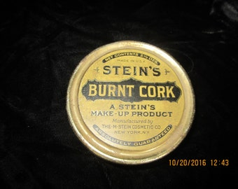 Vintage TIN, ORIGINAL BLACKFACE stage makeup, Stein's Burnt Cork