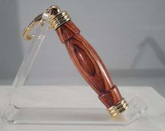 Cocobolo Toothpick Holder Keychain