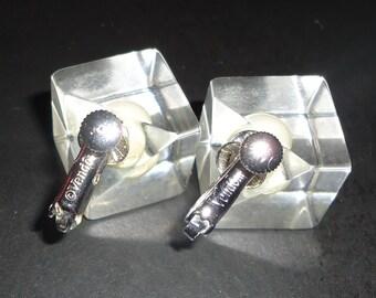 Vendome Lucite Earrings