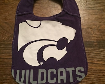 Upcycled Bib from K-State T-shirt