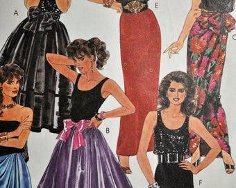 1980's Flirty/Dressy Skirts by Brooke Shields - 6 styles - McCall's 6380 - UNCUT - Size 8