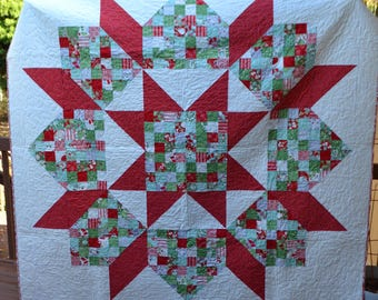 Christmas Patchwork Swoon Quilt - READY TO SHIP