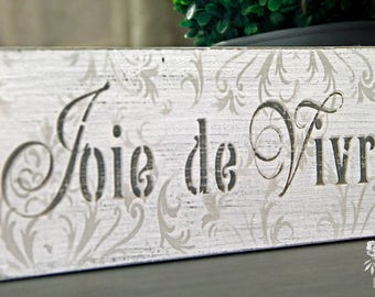 Reclaimed Wood Sign, Hand Painted Wood Sign, Hand Made Wood Sign, French Typography Wood Sign